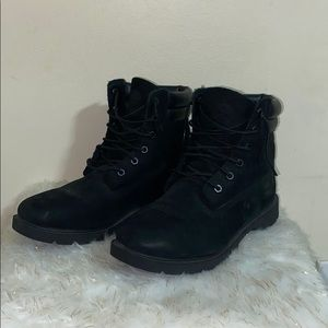 Black Timberland Lace Up Boots